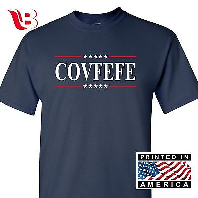 Covfefe Tweet Presidential Funny Meme Trump Trend Mens Navy T Shirt