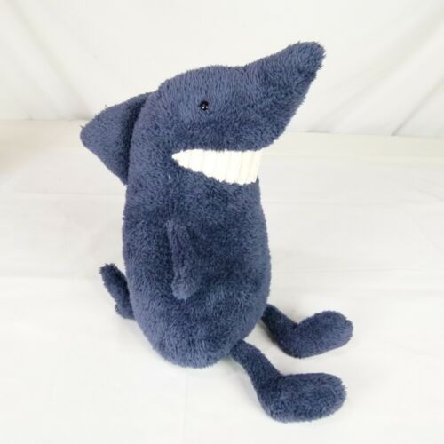 "Jellycat of London Toothy Blue Shark 12"" Plush Stuffed Animal Soft Toy"