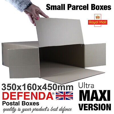 5 Royal Mail ULTRA MAXI SMALL PARCEL BOXES PiP Postal Mailing 350mm 160mm 450mm