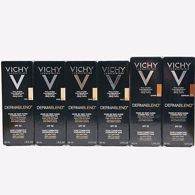 Vichy DERMABLEND Corrective Fluid Foundation SPF Opal Nude Sand Gold Coffee Espr