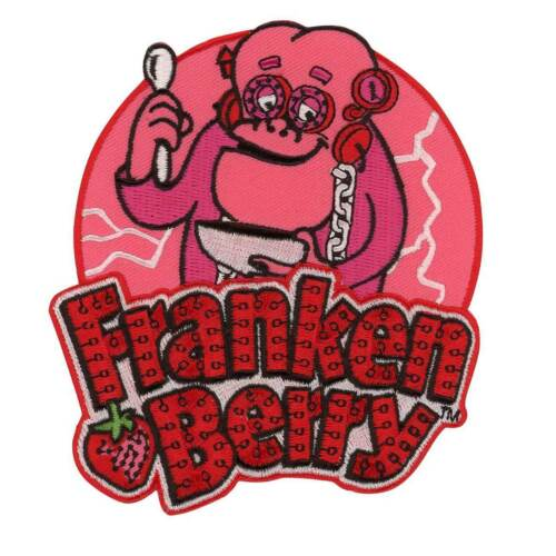 General Mills Franken Berry Cereal Patch Retro Vtg Style Halloween Iron On Patch