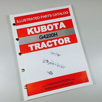 Kubota G4200h Tractor Parts Assembly Manual Catalog Exploded Views Numbers
