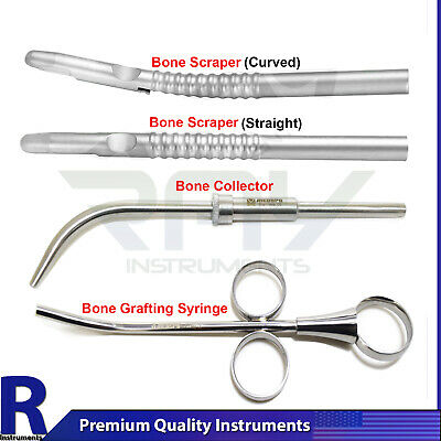 Dental Bone Grafting Syringe Bone Collector Implantology Instruments Scrapers