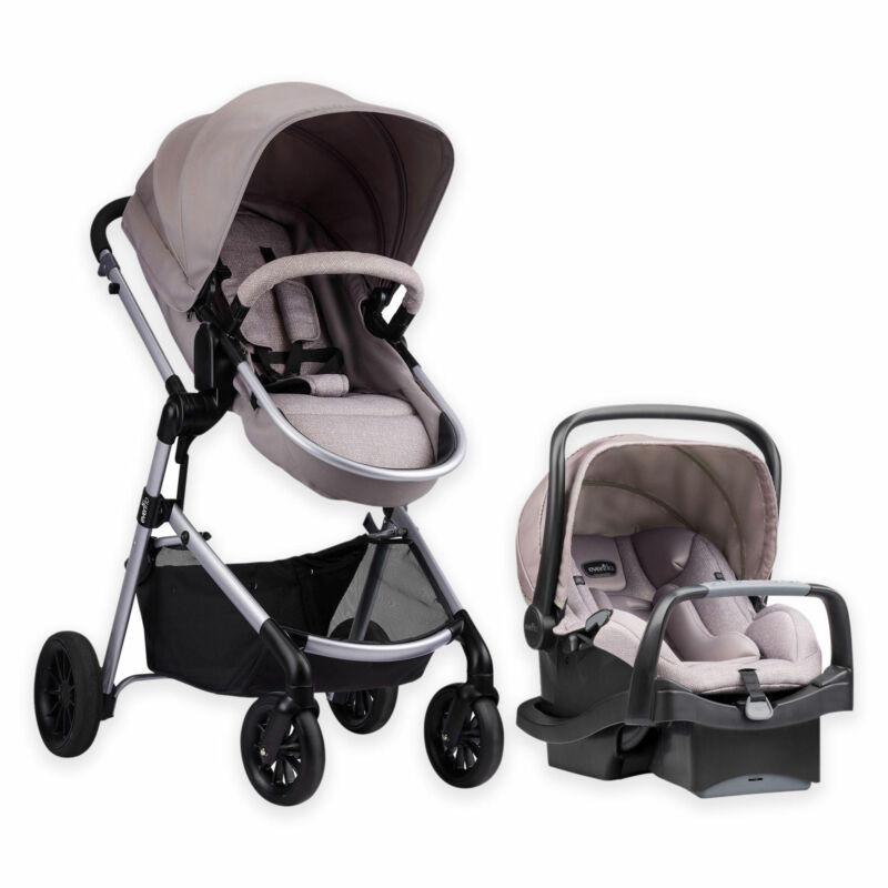 Evenflo 56011993 Pivot Stroller and Infant Car Seat Travel System, Sandstone