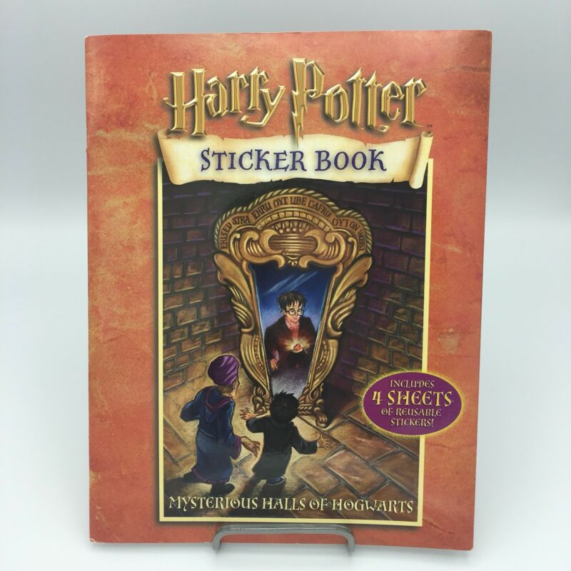 Harry Potter Sticker Book Mysterious Halls of Hogwarts Out Of Print NEW