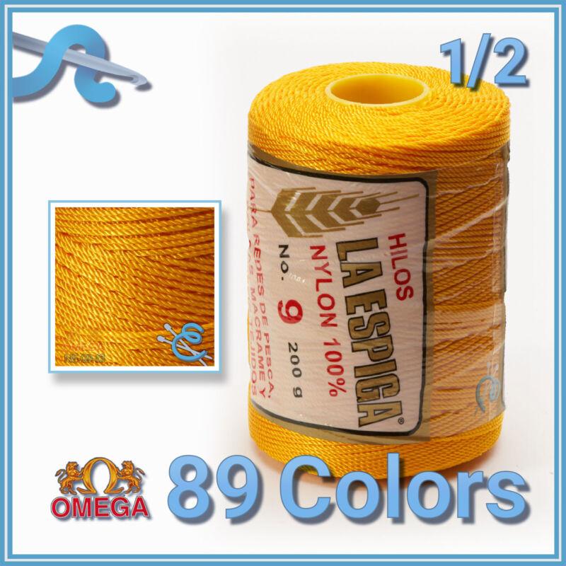 Espiga No.9 - 100% Nylon Omega String Cord for Knitting and Crochet   Strong Mex