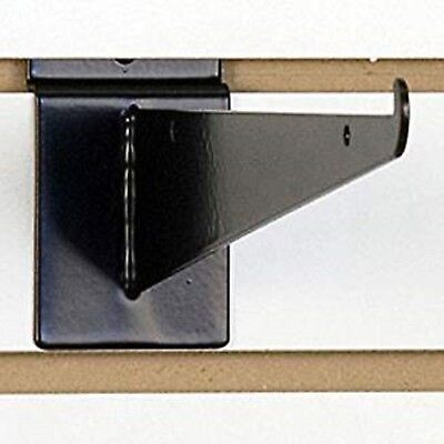 New 10 Slatwall Knife Shelf Brackets With Lip - Black 10pcs