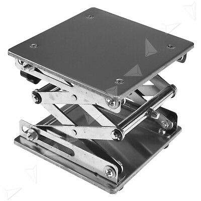 Stainless Steel Lab Stand Table Scissor Lift Laboratory Jiffy Jack 150150mm