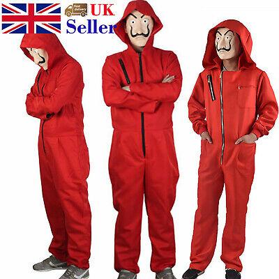 Salvador Dali La Casa De Papel Costume Money Heist Jumpsuit Mask Outfits Cosplay