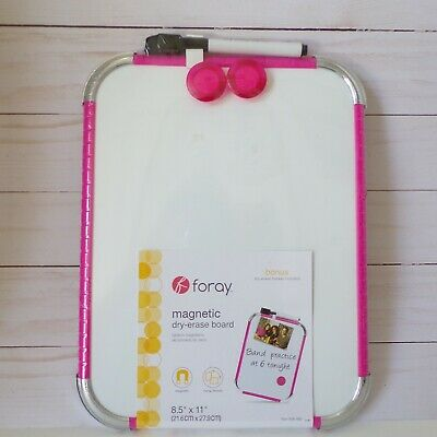 Foray Magnetic Dry Erase Board Pink 8.5 X 11
