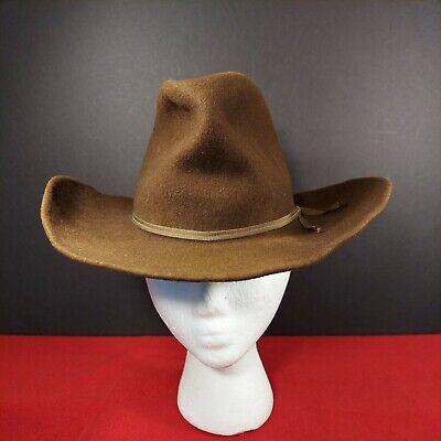 1950s Mens Hats | 50s Vintage Men's Hats Vintage Rockmount Cowboy Hat Brown 6 5/8 Wool 1950's Keystone House $34.99 AT vintagedancer.com