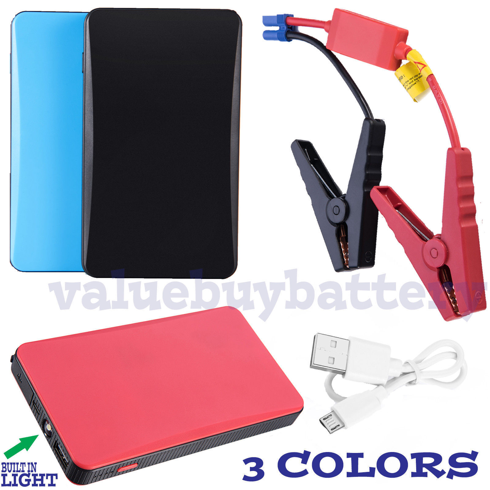 Portable  Slim Mini  20000mAh Car Jump Starter Engine Batter