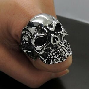 MENs-Huge-Gothic-Skull-Lord-316L-Stainless-Steel-Biker-Ring