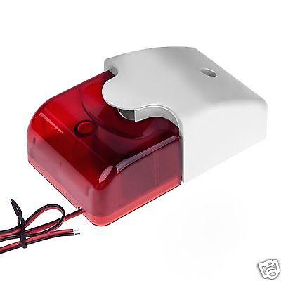 12V 12 V LED Alarm Sirene Blitzleuchte Alarmanlage Blinklicht Signalgeber 110dB