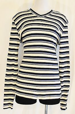 Vintage 80s Guess Striped Fitted Sweater Pullover Size L