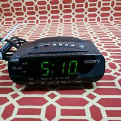 Sony Dream Machine ICF-C212 AM FM Alarm Digital Clock Radio Black WORKS GREAT!