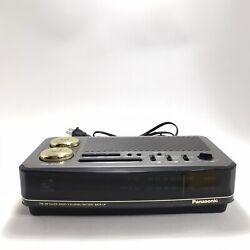 Vintage 1980s Panasonic RC-6180 Big Bell LED Digital Clock Radio Tested Working!