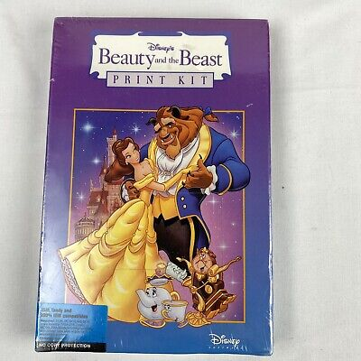 Vintage Disney Beauty And The Beast Print Kit IBM PC software