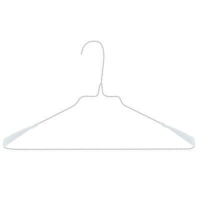 Hangerworld™ Plastic Shoulder Support Protectors Metal Wire Clothes ...