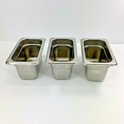 Carlisle 608194 Durapan Steam Table Pans Set Of 3 19 Size 4-inch Stainless Used