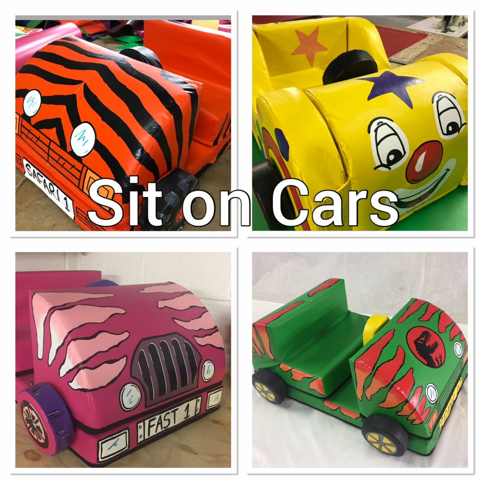 Sit on Make a Car Lots of designs approx 100 x 50 x 30 cm in bag.