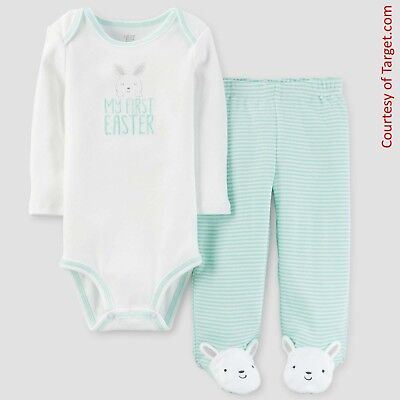 Carters My First Easter Bodysuit and Footed Leggings Outfit (SIZE 3 Months) NEW!](My First Easter)