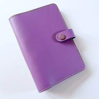 Filofax Original Personal Leather Ring Organizer Planner Lilac Purple