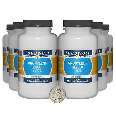 Propylene Glycol 48 Fl Oz 6 Bottles 99.5 Pure Usp Food Grade Liquid