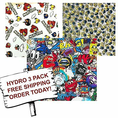 Hydrographic Film Water Transfer Printing Film Hydro Dip Cartoon 3 Pack