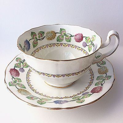 """Adderly Best Bone China """"Meadowsweet"""" Cup & Saucer H198 Floral Pattern England"""