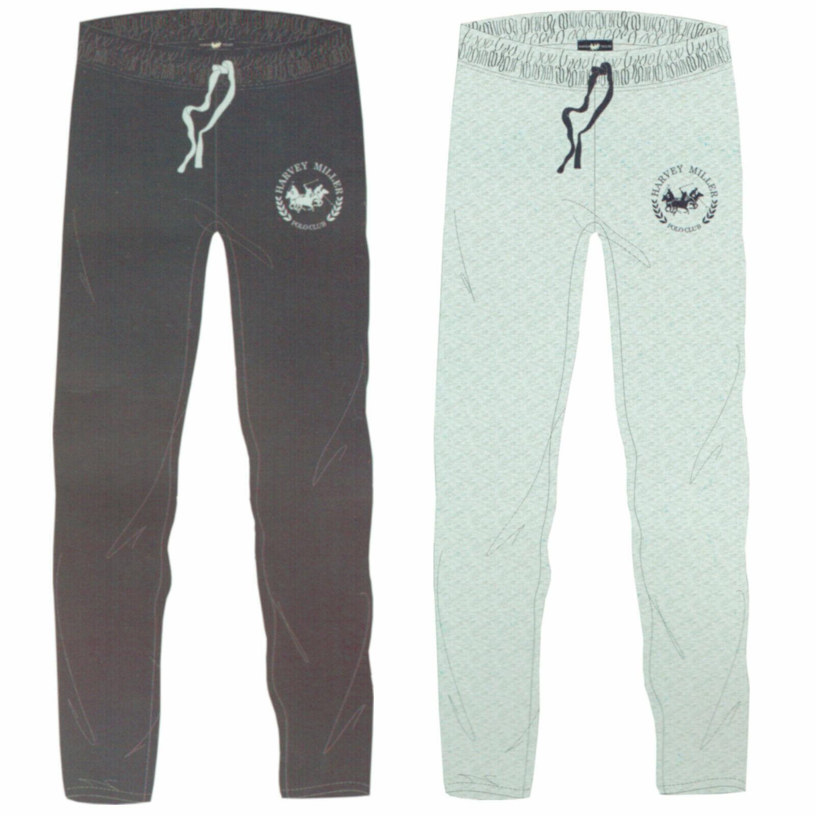 Harvey Miller Polo Club Pyjamahose Gr. M-2XL Herren Schlafhose Grau Blau Öko-Tex