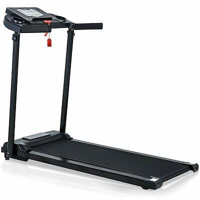 White Folding Electric Treadmill Portable Home Exercise Machine ...