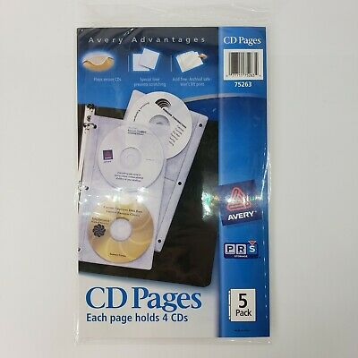Acid Free Cd Organizer Sheets For Three Ring Binders 5pack Ave75263