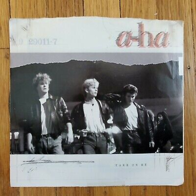 A-Ha Take On Me / Love Is Reason VG+ Vinyl Record Cover 1985