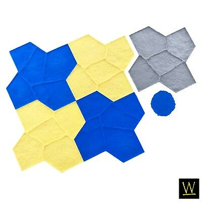 Wisconsin Flagstone Concrete Stamp Set By Walttools - 8 Pc.