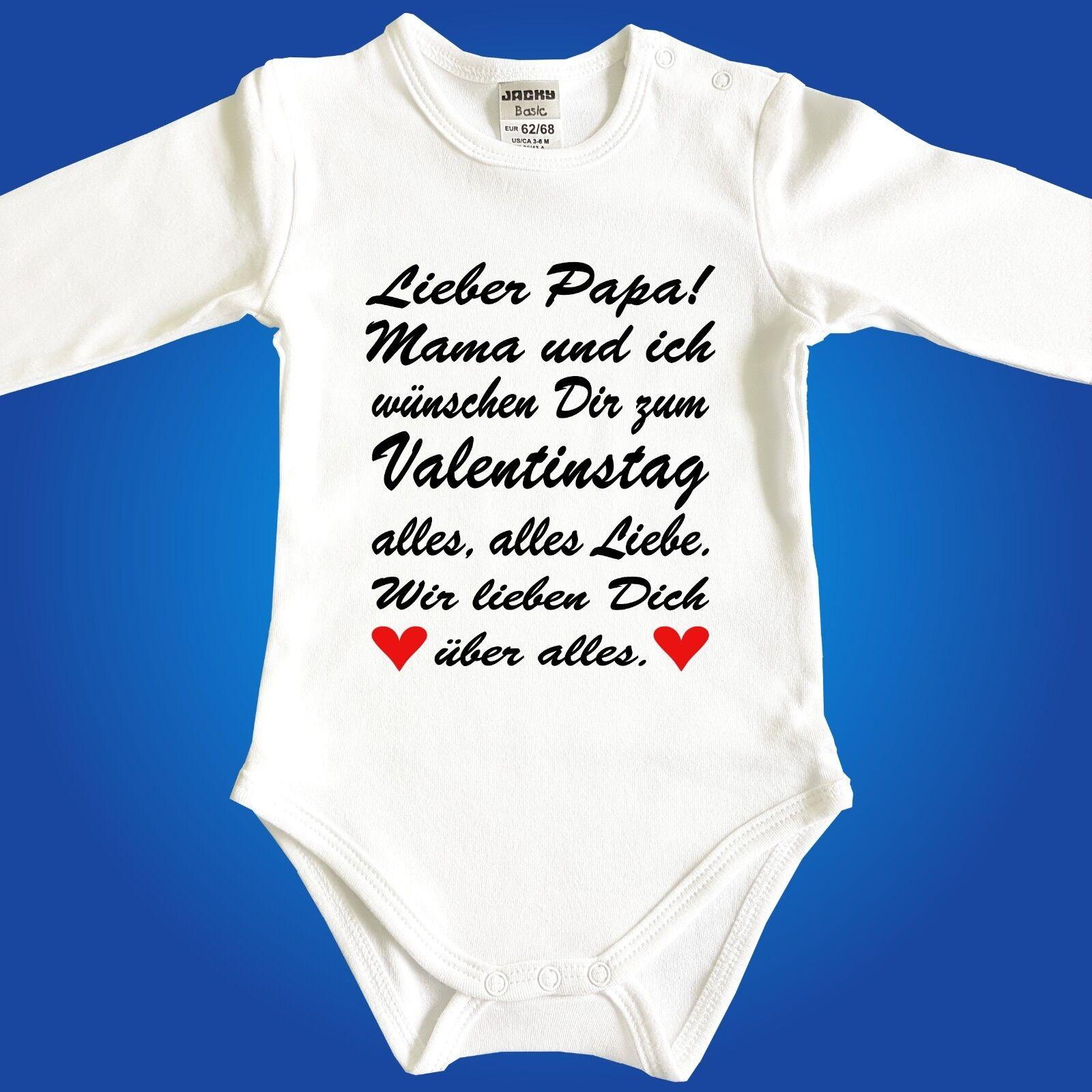 Jacky Baby Strampler Babybody Valentinstag für PAPA oder MAMA - freie Wahl