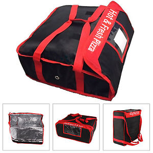 Heavy Duty PIZZA DELIVERY BAG All Sides Keep Warm Red & Black NEW