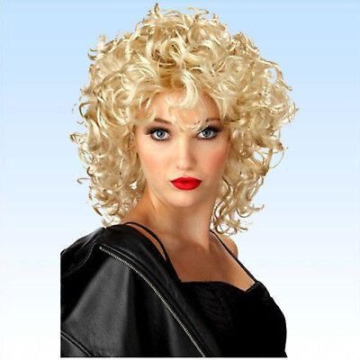 Party Perücke Elisa blond gewellt Kurzhaarperücke lockige gewellte Haare ()