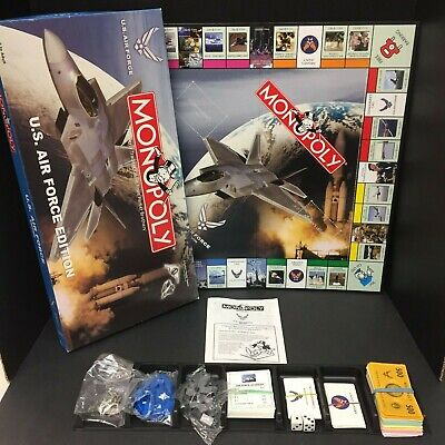 Monopoly US Air Force Edition 41708 Hasbro 2003 100 %Complete