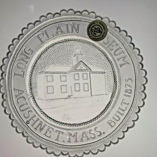 Acushnet MA Long Plain Museum 1875 School House VTG Crystal Pairpoint Cup Plate