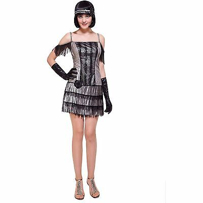 New Flapper Adult Dress Up  Role Play Halloween Costume