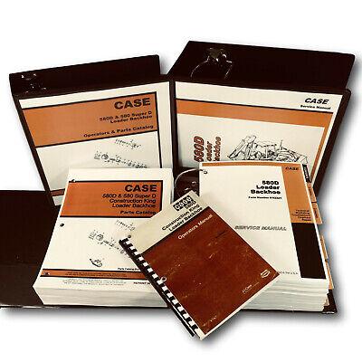 Case 580d Loader Backhoe Service Manual Parts Catalog Operators Repair Shop Book