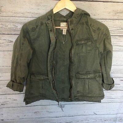 Army green Fall Girls Peek Utility Jacket size 2XL / 12