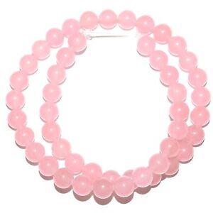 light pink 8mm smooth jade gemstone 15