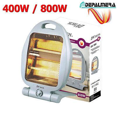 Calefactor eléctrico de Cuarzo Regulable 400W / 800W Estufas Electricas Radiador