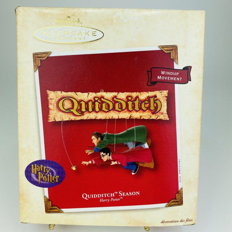2002 Hallmark Keepsake Ornament HARRY POTTER~Quidditch Season w/ Windup Movement