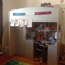 Bunk bed with desk and wardrobe Maylands Norwood Area Preview