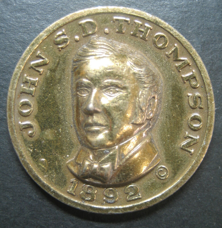Vintage John S.D. Thompson Prime Minister Commemorative Medallion!