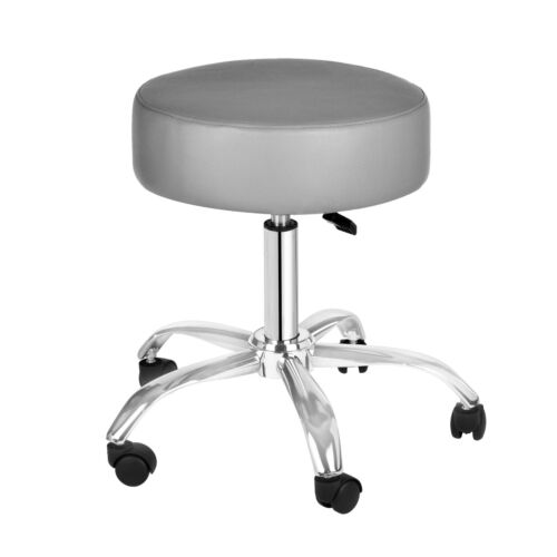 AdirMed Gray Faux Leather Adjustable Rolling Medical Office Doctor Exam Stool
