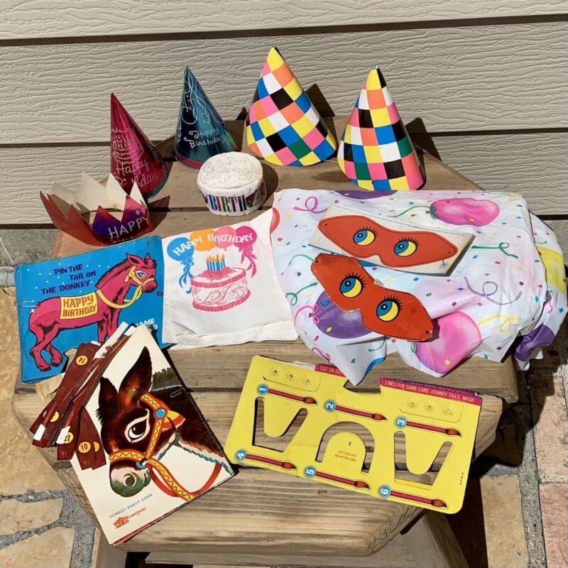Vintage BIRTHDAY PARTY KIT SET Children